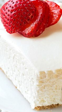 No-Bake Strawberry Topped Cheesecake
