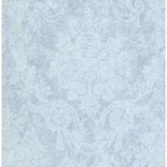 SK Filson Olivia Damask Paper Strippable Roll (Covers 54 sq. ft.), Blue