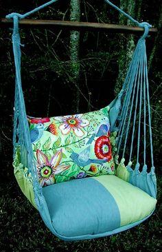 Meadow Mist Garden Hammock Chair Swing Set - Click to enlarge
