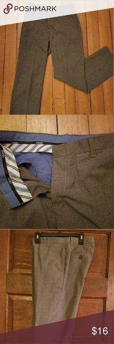 Boys gray dress pants Flat front gray slacks, worn once in a wedding Izod Bottoms