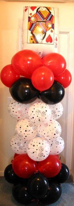globos en forma de torre