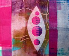 Blog and Video Tutorial: Gelli Printing on Fusible Interfacing Once you've created prints on fusible non-woven interfacing you have many options for using them. The prints are perfect for paper or fabric collage, so consider cutting them into pieces and fusing to other artworks. If you have a die-cutting machine...you might try cutting them into di fferent shapes!