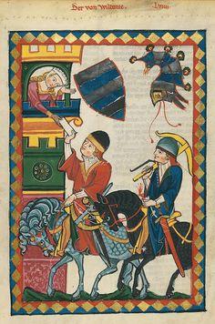 Codex Manesse, UB Heidelberg, Cod. Pal. germ. 848, fol. 201r: Der von Wildonie