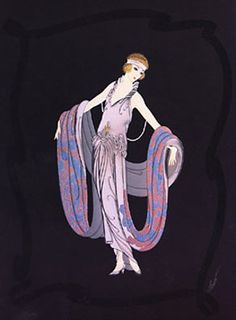 """""""No other fashion designer, including Chanel or Dior, had greater influence in the 20th century than Erté. His flamboyant designs defined one of the most opulent and iconic decades in history: the 1920s. Traces of his style would later go on to mold fashion in the 1960s."""""""