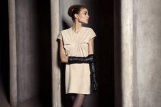 UNEINS Paula Reindeer Leather Dress #reindeerleather #dress #fashion #uneins #editorial #aw