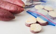 さつまいもを電子レンジで【甘〜い焼き芋】にするテク   ほほえみごはん-冷凍で食を豊かに- ニチレイフーズ Sausage, Frozen, Potatoes, Meat, Vegetables, Food, Sausages, Potato, Essen
