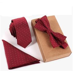 Necktie Gift Set with pocket square