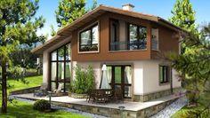 Casa de vis de 125 m2 cu trei dormitoare -proiect detaliat cu fotografii