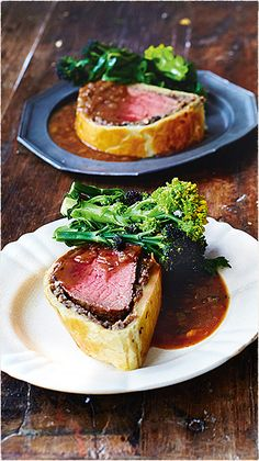 Beef Wellington by jamie oliver , Cook bottom of pastry on baking tray on hob for approx 10 mins to avoid soggy bottom