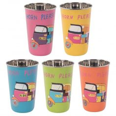 Hand Painted Rickshaw Stainless Steel Tumbler (Set of 5)