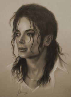 Celebrity Pencil Portraits - Michael Jackson