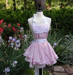 Sexy Pink French Babydoll Apron. $135.00 USD, via Etsy.