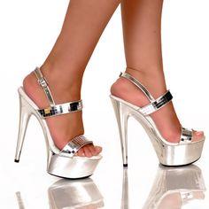Silver Disco Ball Platform Shoe available at Teezerscostumes.com