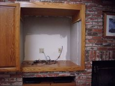 Before-remodel built in TV cabinet