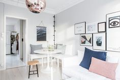 Small light living room