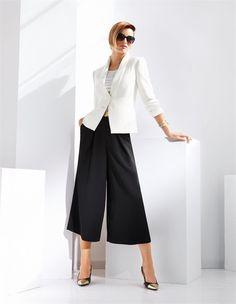 ABSOLUTES MUST-HAVE: Der Hosenrock mit Falten! Ein eleganter Hosenrock in angesagter Silhouette.