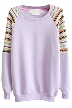 Womens Cute Crewneck Pullover Sweatshirt Top With Knit St…
