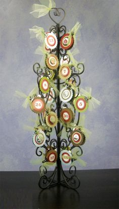 Holiday Countdown Tree (Christmas Version) - full tree - Scrapbook.com - #diy #crafting #holidays