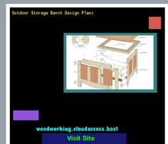 Outdoor Storage Bench Design Plans 081648 - Woodworking Plans and Projects!