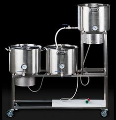 Making Homemade Beer - best home brewing equipment - Home Brewery, Home Brewing Beer, Brew Stand, Brew Your Own Beer, I Like Beer, Home Brewing Equipment, Beer Recipes, Coffee Recipes, How To Make Beer