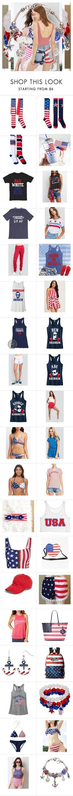 """""""4th"""" by queenet ❤ liked on Polyvore featuring Charlotte Russe, Wildfox, SO, Alternative, American Needle, P.J. Salvage, Draper James, Vans, Kim Rogers and Topshop"""