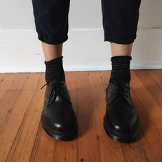 Image result for how to wear dr martens 1461 smooth