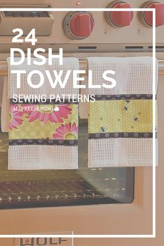 Every kitchen needs dish towels - use your sewing skills and these handy tutorials to make pretty dish towels that will brighten up your living space.