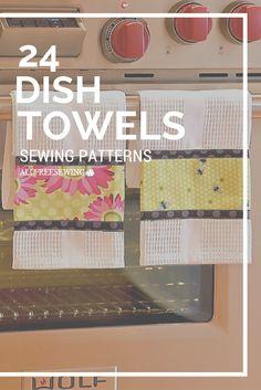 Scrappy Patchwork Flour Sack Dish Towels | Sew4Home | Kitchen ...