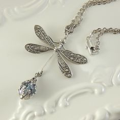 Dragonfly Paradise necklace by Ophelia's Adornments