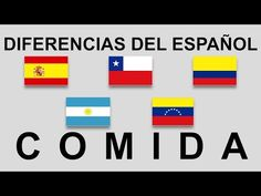 Diferencias del español. Comida. #smart - YouTube