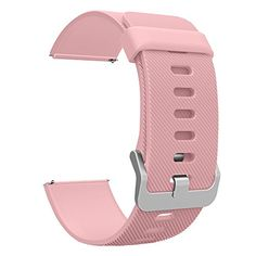 Fitbit Blaze Accessories Classic Band Large UMTele Soft Silicone Replacement Sport Strap Band with Quick Release Pins for Fitbit Blaze Smart Fitness Watch Pink Frame Not Included 6781 ** You can find more details by visiting the image link. Note: It's an affiliate link to Amazon.
