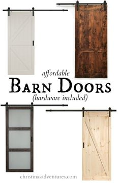 Barn doors aren't going anywhere. Get the look you love and conserve valuable space with these affordable barn door options via Christina's Adventures.