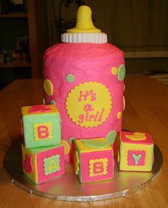 http://cakedecoratingcoursesonline.com/cake-decorating/ Baby Bottle Shower Cake. Do you want your #personal #Baby #Shower #cake? - Learn Amazing #Cakes #Design Creating on http://CakeDecoratingCoursesOnline.com and Make Your Dream Baby Shower Cake Yourself