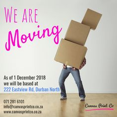 Psst...we have exciting news! WE ARE MOVING THIS FRIDAY 🎉 We'll be available until 12h00 midday on Friday 30 Nov, and then we'll be commencing with the big move to our new premises. 🚚📦 You can still place orders online, and send enquiries, but we'll be unable to respond to calls and emails once the move begins on Friday. We've tried to make the move as efficient as possible and apologise for any inconvenience.  Thank you 🙂