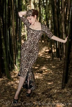 Dollymop for Dark Garden leopard print corset ensemble | Model: Victoria Dagger | Photo © John Carey