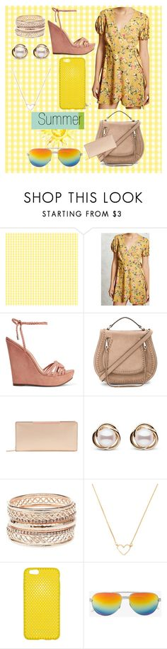 """""""summer outfit"""" by aletraghetti on Polyvore featuring moda, Forever 21, Schutz, Rebecca Minkoff, Ted Baker, Trilogy, Charlotte Russe y Yves Saint Laurent"""