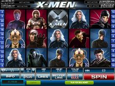 X-Men is a 5-reel 25-line branded video slot game with extra features: the Wild symbol, the Extra Wild symbols, the Scatter symbol, the X-Feature, the Free Games and the Marvel Multi-Level Mystery Progressive Jackpot...read more http://www.freeslots.jp/free-games/playtech/x-men/