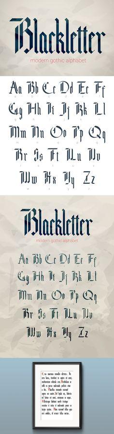 Blackletter modern gothic font.. Blackletter Fonts. $12.00