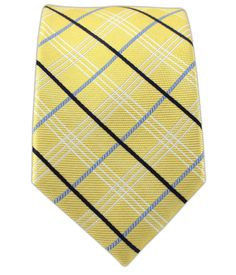 - Colonnade Plaid - Butter (Skinny) Ties
