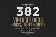 382 Vintage Logos Bundle by Zeppelin Graphics on Creative Market