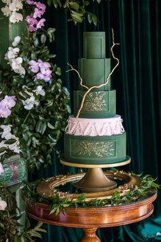 WedLuxe Magazine Nightwatch Green