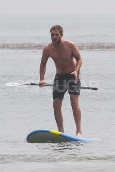Robert Pattinson went shirtless in Malibu.