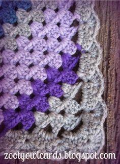Diagonal Granny Stripe Blanket Free Crochet Pattern