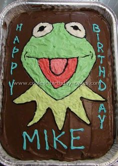 Kermit Cake for Ripley's Birthday