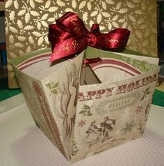 paper treat holder and gift carrier
