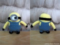http://littleyarnfriends.com/post/60733489566/crochet-pattern-lil-minion-despicable-me When I learn to crochet, I am so going to make this!