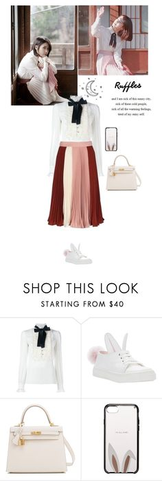 """""""Through the Night -IU"""" by lydiarts ❤ liked on Polyvore featuring Dolce&Gabbana, Hermès and Kate Spade"""