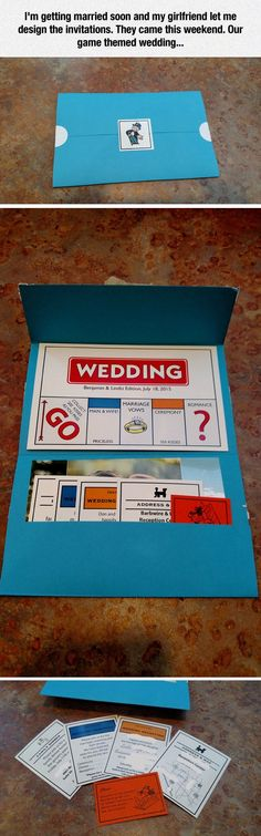 Game Themed Wedding Invitations