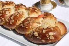 Greek Easter Bread (Tsoureki).  Teaching my G how to make this tomorrow.