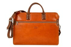 #Leather #briefcase with front pocket, zip closure and removable shoulder strap. Discover all the colours here!